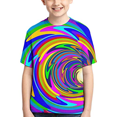 XCNGG Niños Tops Camisetas Youth Short Sleeve T-Shirts Cosmic Bright Sspiral Kids Casual Graphics Tees