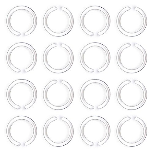 JFORYOU Bioflex Helder neuspiercing neus ring neus ring piercing Hoop 20G 0.8 8mm