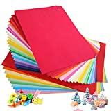 Cartulina de colores A4, 100 unidades, 230 g, 20 colores variados, papel de...