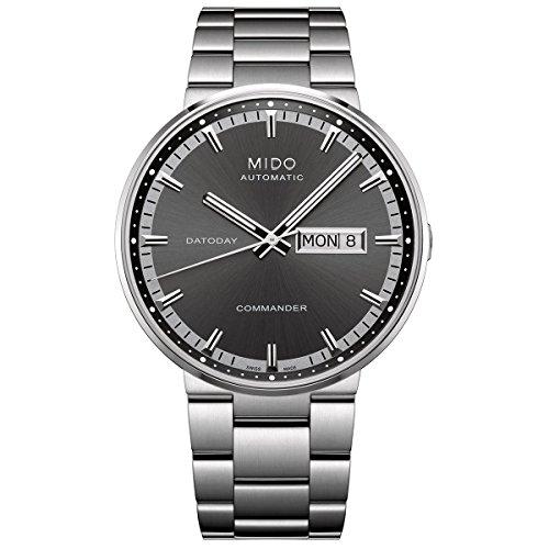 Mido Herren-Armbanduhr XL Commander II Analog Automatik Edelstahl M0144311105100