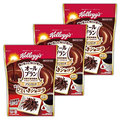 【Amazon.co.jp限定】 【セット買い】 ケロッグ オールブラン ブランリッチ ほっとひといきショコラ 200gx3個 機能性表示食品