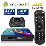 Android TV Box 9.0 A95X 4G RAM+64G ROM 4K TV Box Android RK3318 Quad-core Cortex-A53 WiFi 2.4/5GHz Bluetooth 4.2 Ethernet LAN100M H.265 USB 3.0 con Wireless Mini tastiera retroilluminata Smart TV Box