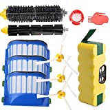 efluky 3500mAh Ni-MH Replacement Roomba Battery + Replacement Accessory Part Kit for iRobot Roomba 600 Series 600 610 614 620 625 630 635 640 645 650 655 660 665 670 680 690 - a set of 11