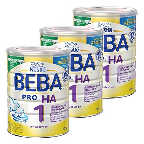Nestlé BEBA Pro HA 1 12332812 - Leche para bebés, alimento HA, alimento para Comida, 3 x 800 g
