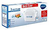 BRITA MAXTRA+ water filter cartridges, compatible with all BRITA jugs for chlorine and limescale reduction, 3 pack