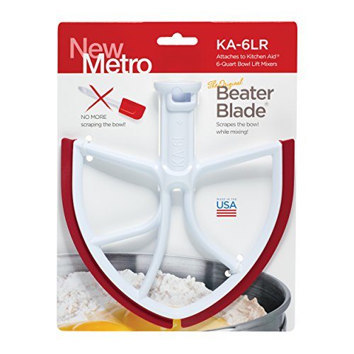 NewMetro KA-6LR BeaterBlade Past in KitchenAid 6-Quart Bowl Lift Mixers met rode messen