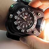 Aupooe 充電タイプ LED懐中電灯 3W 強力 ライト 200ルーメン リストライト ウォッチ 腕時計型 ハンズフリー メンズ用 アウトドア キャンプ対応用品 オシャレ 多機能 防水 (腕時計型)