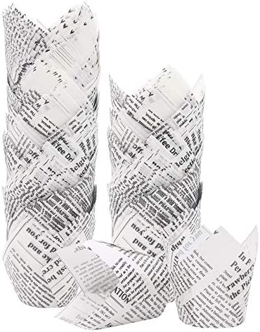 150pcs Tulip Cupcake Liners Baking Cups Muffin Holders Baking Liners Rustic Cupcake Wrappers product image