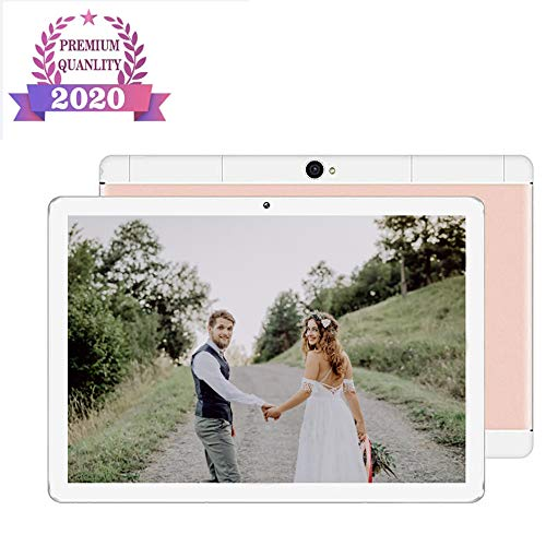 10 Inch Android Tablet, Android 9.0, 32GB opslag, quad-core processor, 1960X1080 IPS HD Display, Wi-Fi, ondersteuning 4G Telefoongesprek,Pink