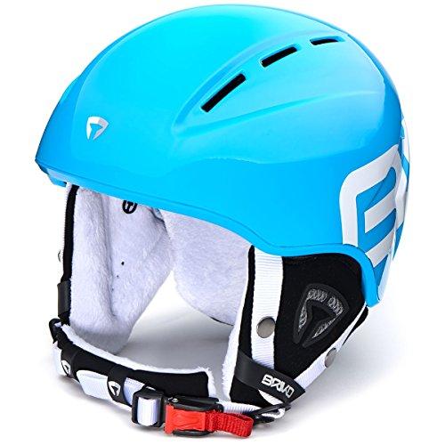 Briko KODIAKINO Ski Helm Junior, Kinder Einheitsgröße Hellblau