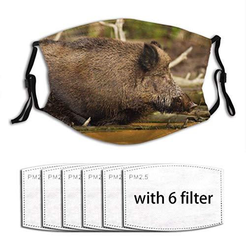 Wildschwein-Maske mit 6 Filtern für Outdoor-Sportarten