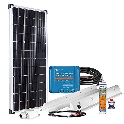 Offgridtec® mPremium+ L 100W 12V MPPT Caravan Solarset mit Victron Smartsolar 75/15