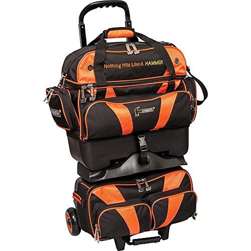 HAMMER Premium 4-Ball stapelbar Bowling Bag, H400-52, schwarz/orange, Einheitsgröße
