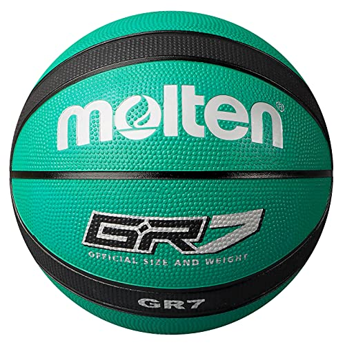 molten Palla da basket, Verde (grün/schwarz), 7