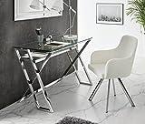 DUGARHOME - Escritorios Modernos - Mueble DK-905 Acero/Cristal