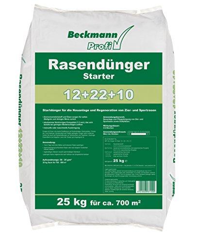 Beckmann Profi Rasendünger Starter 12+22+10, 25 kg