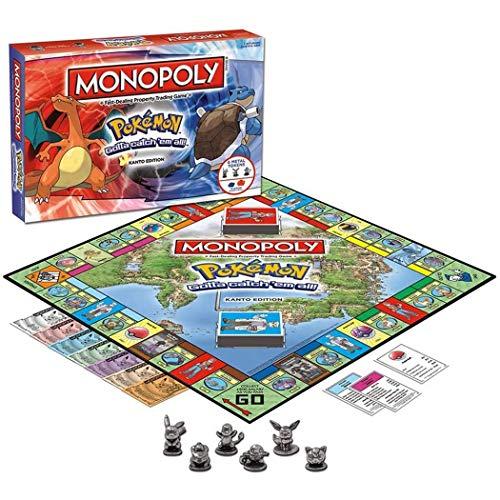 EUS Monopoly Brettspiel, Pokemon Kartenspiel Spielzeug Partei Brettspiele Für Gruppen, Familie, Geburtstag, Weihnachten, Geschenke (Englische Ausgabe)
