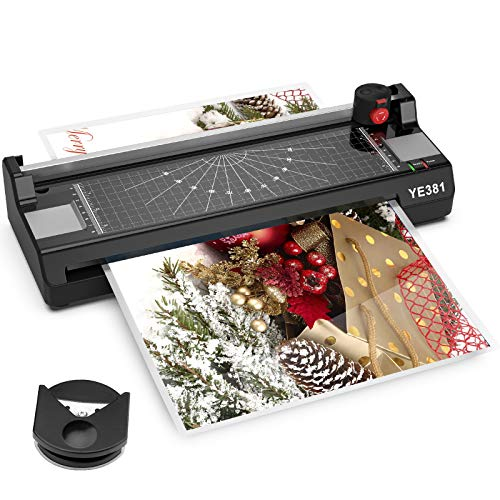 13 Inch Laminator Machine for A3/A4/A6,381 Thermal Laminator Machine with Laminator Sheets,50 3Mil Laminating Pouches, Corner Rounder for Office Home School Use.