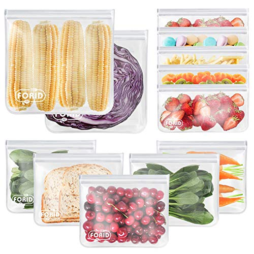Reusable Storage Bags  12 Pack EXTRA THICK Freezer bags 2 Reusable Gallon Bags amp 5 Reusable Sandwich Bags amp 5 Reusable Snack Bags FDA Grade LEAKPROOF Lunch Bag for Food Travel Items Storage