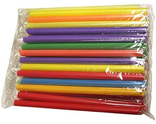 Cannucce colorate confezionate singolarmente da 20,3 cm di lunghezza e diametro di 1/8 di pollice