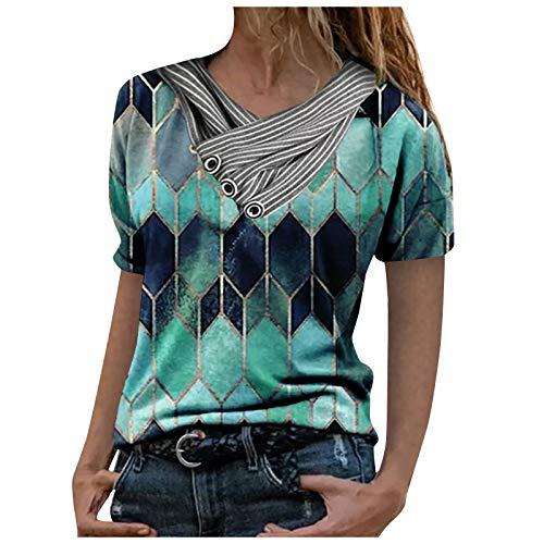 Damen Sweatshirts mit Geometrisch Diamant Motiv Langarm Kurzarm Pullover Blusen Mode Classic Umlegekragen Half Zip T-Shirt Reißverschluss Oberteil Herbst und Winter Casual Blusen Tops