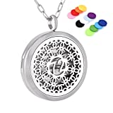 Young Living Diffuser Necklace Stainless Steel 30mm Round Locket Pendant with 20' chain+12 pads