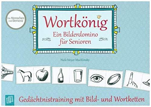 Wortkönig. Ein Bilderdomino für Senioren: Gedächtnistraining mit Bild- und Wortketten