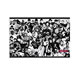 FINDEMO Rapper Collage Black & White Canvas Art Poster and Wall Art Picture Print Modern Family Bedroom Decor Posters 08x12inch(20x30cm)