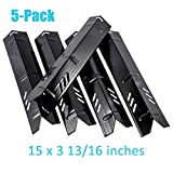BBQration 5-Pack Gas Grill 15-inch Porcelain Steel Heat Plate Grill Replacement Parts Heat Plate for Backyard Grill BY14-101-001-02, BY15-101-001-02, Dyna-Glo, Uniflame GBC1059WB, BHG, and More