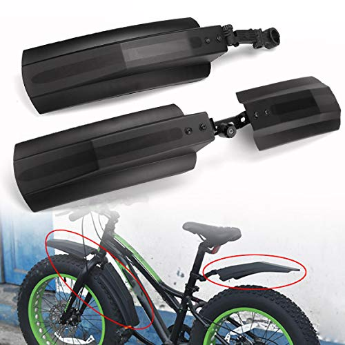 MTB Mudguards for Bikes, 26 inch Snow Bicycle Bike Front Rear Mudguard Cycling Bike Fender For Fat Tire Mountain Bike