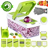 Vegetable Chopper, ONSON Food Chopper Cutter Onion Slicer Dicer, 10 in...