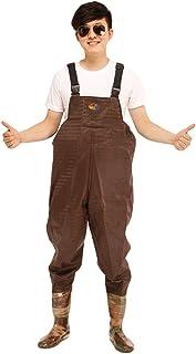 comprar comparacion Xinwcang Profesional Pantalón de Pesca PVC Impermeable Vadeador Botas Altas Antideslizante Waders Pesca