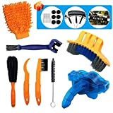 Karetto 11 Pack Bike Cleaning Brush Tools Set - Bicycle Clean Brush Kit Durable/Practical- Suitable for Mountain, Road, City, Hybrid,BMX Bike and Folding Bike