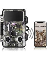 TOGUARD Verbeterde Wildlife Camera WiFi Bluetooth 20MP 1296P Jacht Trail Camera met 120 ° Monitoring Hoek met Bewegingsgeactiveerde Nacht Infrarood Visie, Waterdicht Outdoor Scouting Game Camera