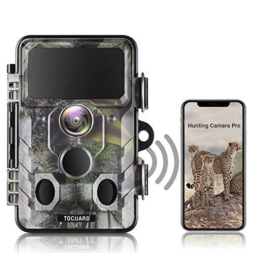 TOGUARD WLAN Bluetooth Wildkamera 20MP 1296P Video Jagdkamera mit 120 ° Überwachungswinkel Bewegungserkennung in der Nacht mit Infrarot-Aufnahme, IP66Wasserdicht Outdoor-Kamera