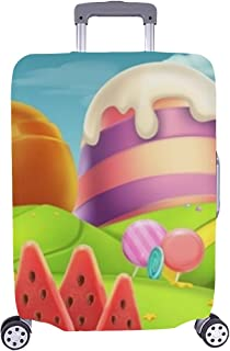 Sweet Candy Landscape Panorama 3 D Vector Pattern Spandex Trolley Case Travel Luggage Protector Suitcase Cover 28.5 X 20.5...