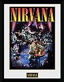 1art1 Nirvana - Unplugged Gerahmtes Poster Für Fans Und
