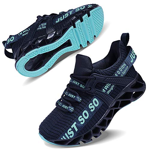 ALLCHAR Jungen Mädchen Sportschuhe Tennisschuhe Unisex-Kinder Sneakers Laufen Schuhe (31 EU, Dunkel Blau, 31)