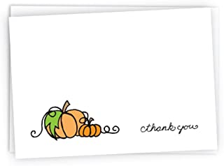 Autumn/Fall Pumpkins Thank You Cards - 24 Cards & Envelopes