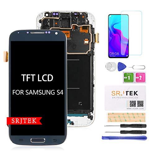 Srjtek - Pantalla LCD de repuesto para Samsung Galaxy S4 i9500 y GT-I9500 y LET GT-I9500 (pantalla táctil digitalizador)