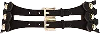 Michael Kors Wide Stretch Women's Suede Leather Belt Double Gold-tone Buckle XL