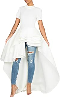 TTYLLMAO Damen Blusen Kleid