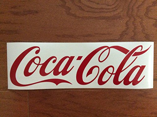 "14"" COCA-COLA Vinyl Sticker/Decal, Coke Sign, Coke Tademark, only red letters, no background"