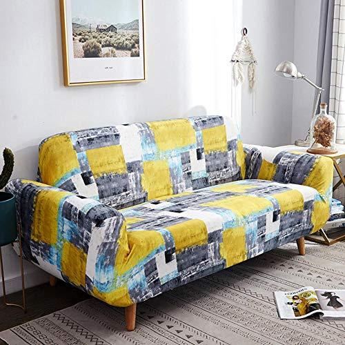 LWZZW All-Inclusive-Sofaabdeckung, Verkleidung Universal, Universal Elastische Matratze Jahreszeiten,Gemälde,DREI 190-230Cm