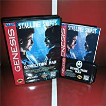 Value-Smart-Toys - Demolition Man US Cover with Box and Manual For Sega Megadrive Genesis Video Game Console 16 bit MD card