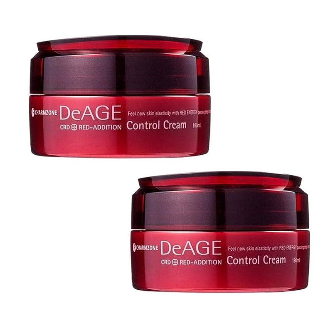 間接的式皮肉チャムジョンディエイジレッドエディションコントロールクリーム180ml x 2本セットマッサージクリーム、Charmzone DeAGE Red-Addition Control Cream 180ml x 2ea Set [並行輸入品]
