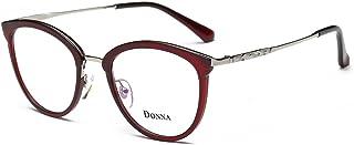 DONNA Clear Lens Women Glasses Samll Round Cateye Frame...