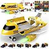 JODUDLR Toddler Toys for 3-5 Year Old Boys,Big Airplane Toy 19-in-1 Educational Transport Airplane...