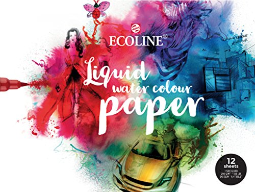 Ecoline Papier 24x32cm, Block mit 12 Blatt