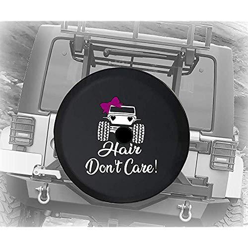 BK Creativity Wheel Tire Cover,Haarpflege Nicht Für Mädchen Nette Weiche Qualitätsrad-Gummireifen-Abdeckungen Für Jeep-Autorad 70-75cm